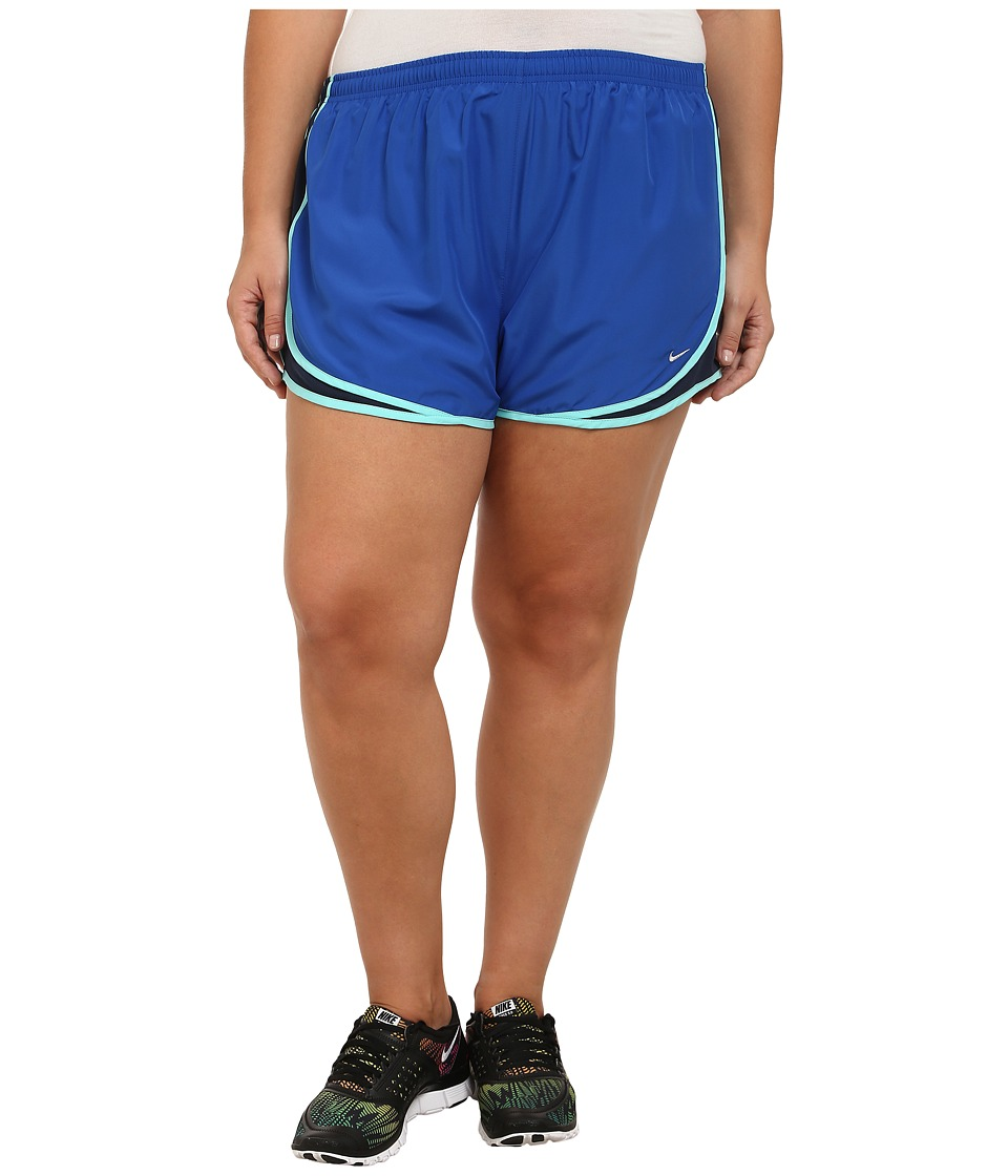 Nike - Extended Sizing Tempo Track Short (Game Royal/Obsidian/Light Aqua/Matte Silver) Women