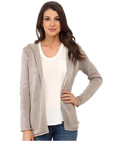 Pendleton - Tape Hoodie Cardigan (Oxford Tan) Women's Sweater