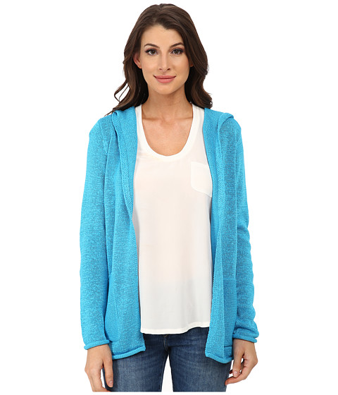 Pendleton - Tape Hoodie Cardigan (Carolina Blue) Women