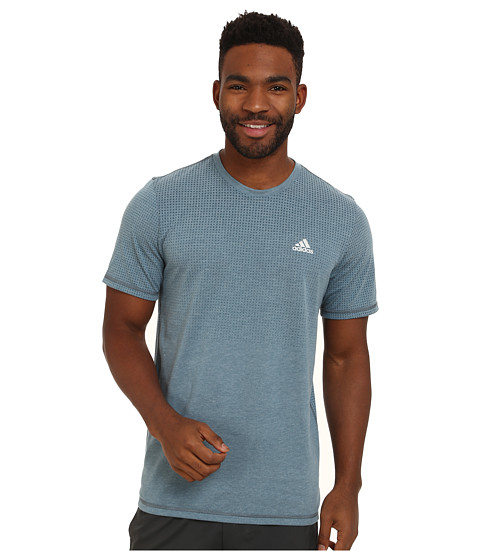 adidas - Aeroknit Short Sleeve Tee (Viridian Heather) Men