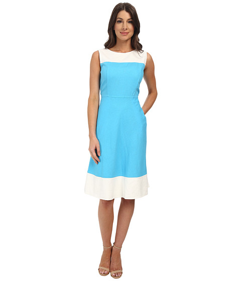 Pendleton - Tradewind Trimmed Dress (Carolina Blue Linen Blend) Women