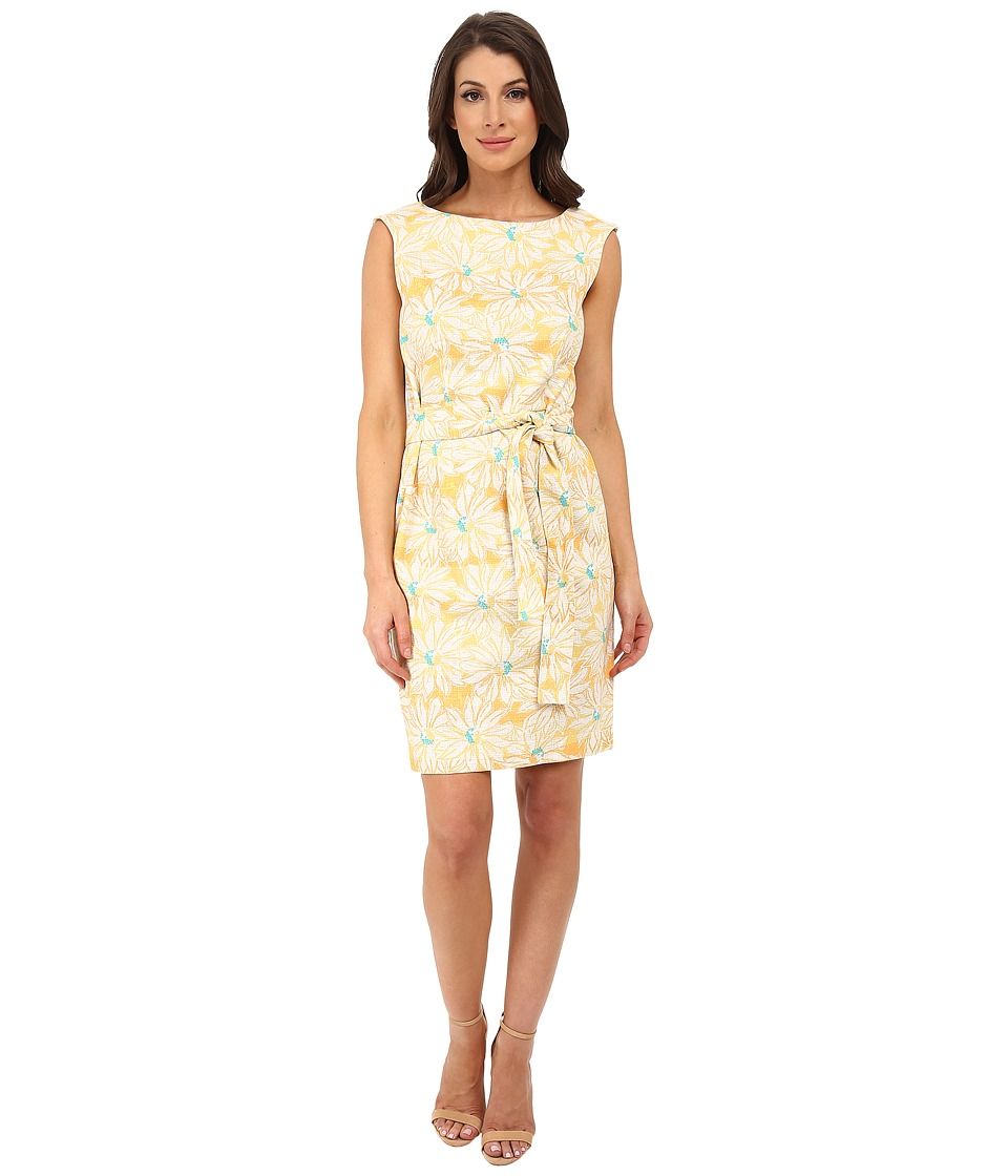 Pendleton - Gloria Belted Dress (Sunflower Print) Women