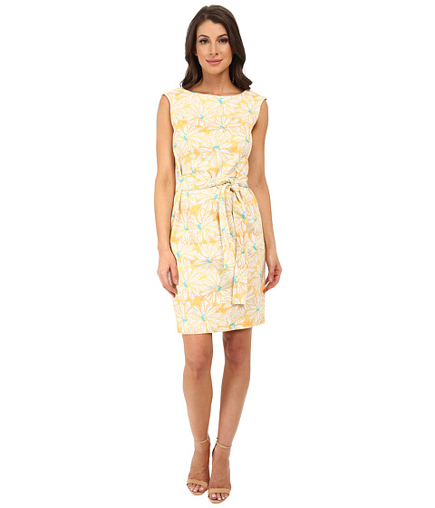 Pendleton - Gloria Belted Dress (Sunflower Print) Women's Dress