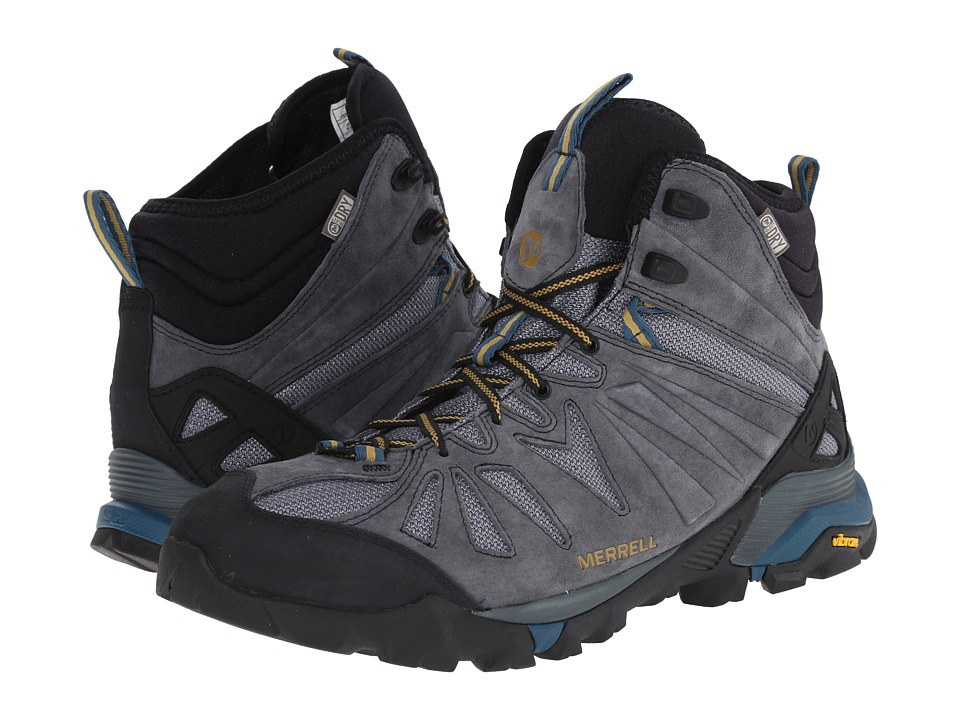 Merrell - Capra Mid Waterproof (Turbulence) Men's Hiking Boots