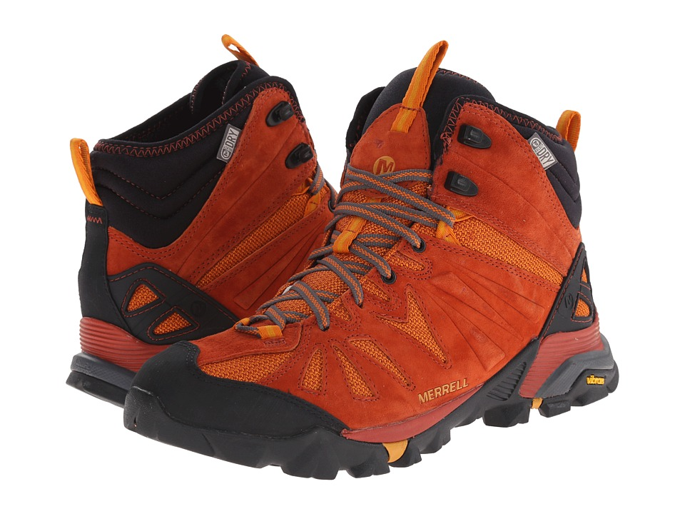 Merrell - Capra Mid Waterproof (Dark Rust) Men
