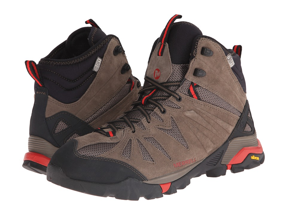 Merrell - Capra Mid Waterproof (Boulder) Men's Hiking Boots
