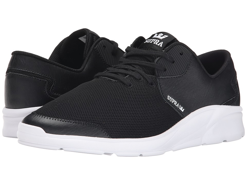 Supra - Noiz (Black Leather/Mesh) Men's Skate Shoes