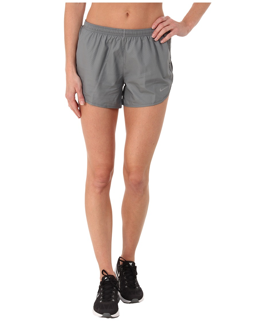 Nike - Modern Embossed Tempo Short (Cool Grey/Cool Grey/Reflective Silver) Women's Shorts