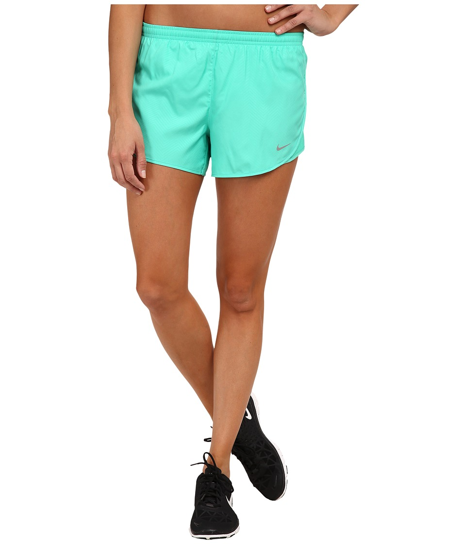 Nike - Modern Embossed Tempo Short (Emerald Glow/Emerald Glow/Reflective Silver) Women's Shorts