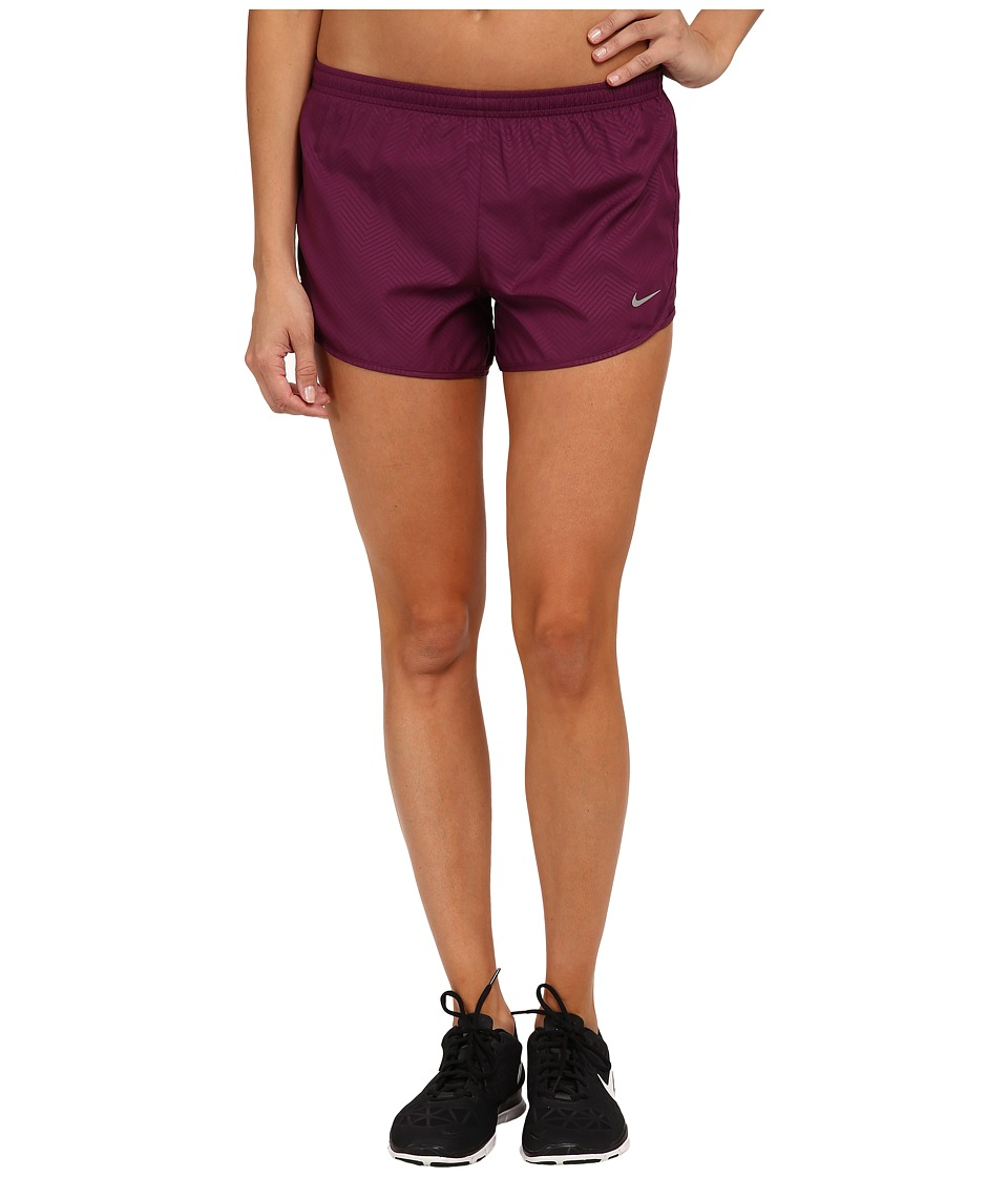 Nike - Modern Embossed Tempo Short (Mulberry/Mulberry/Reflective Silver) Women's Shorts