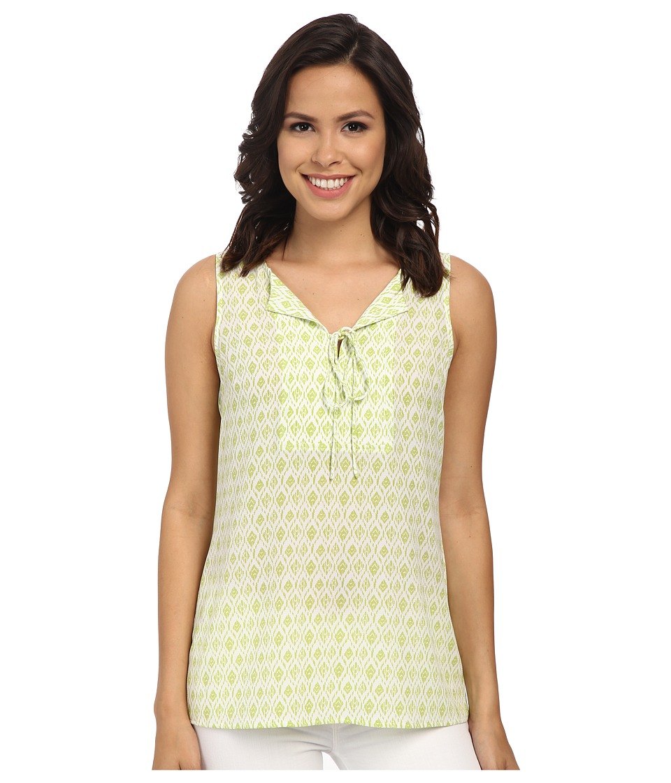 Pendleton - Lila Top (White/Lemongrass Diamond Print) Women's Sleeveless