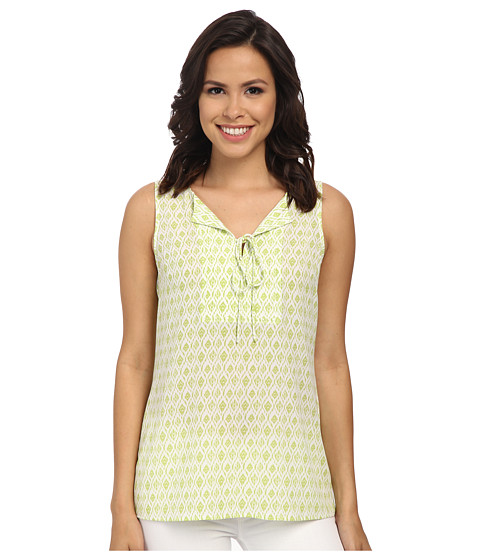 Pendleton - Lila Top (White/Lemongrass Diamond Print) Women