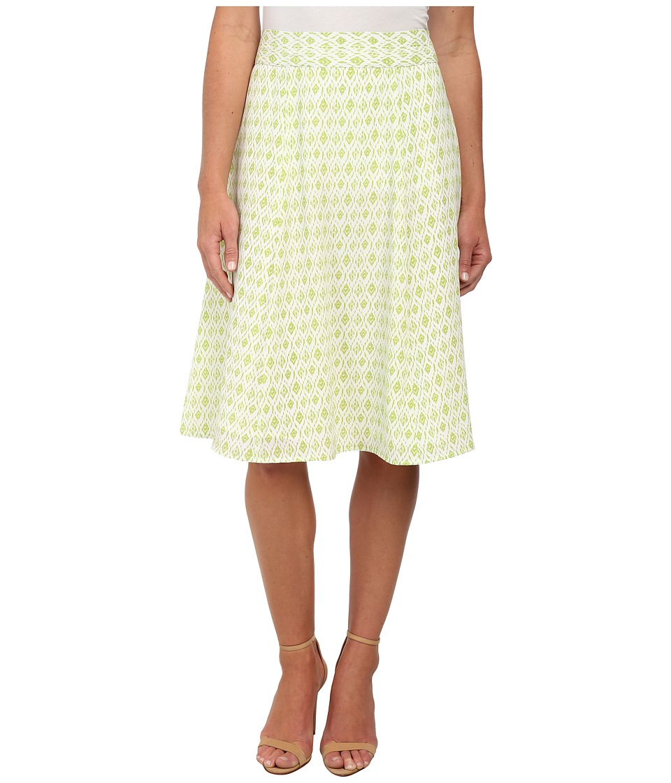 Pendleton - Lila Skirt (White/Lemongrass Diamond Print) Women's Skirt