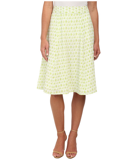 Pendleton - Lila Skirt (White/Lemongrass Diamond Print) Women