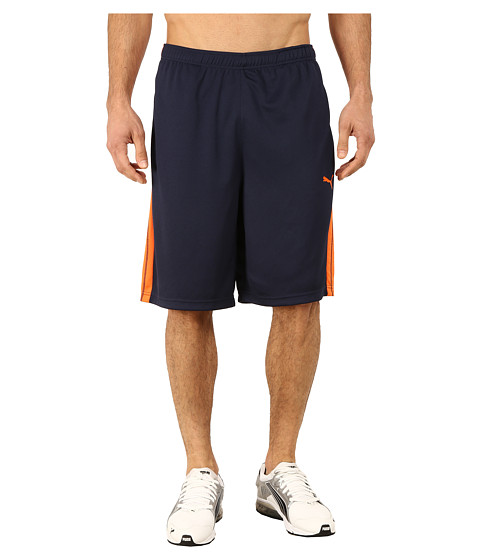PUMA - Formstripe 10 Short (Peacoat/Vermillion Orange) Men's Shorts