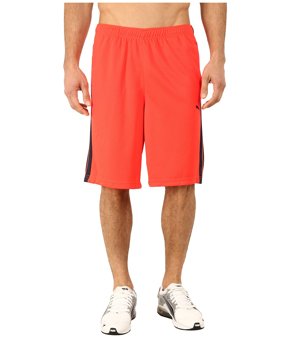 PUMA - Formstripe 10 Short (Fiery Coral/Total Eclipse) Men