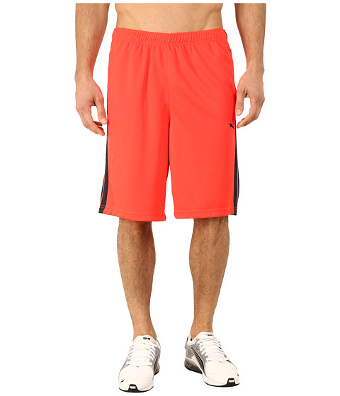 PUMA - Formstripe 10 Short (Fiery Coral/Total Eclipse) Men's Shorts