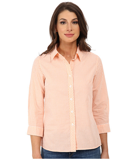 Pendleton - Sophie Shirt (Orange Peel/White Tattersall) Women's Long Sleeve Button Up