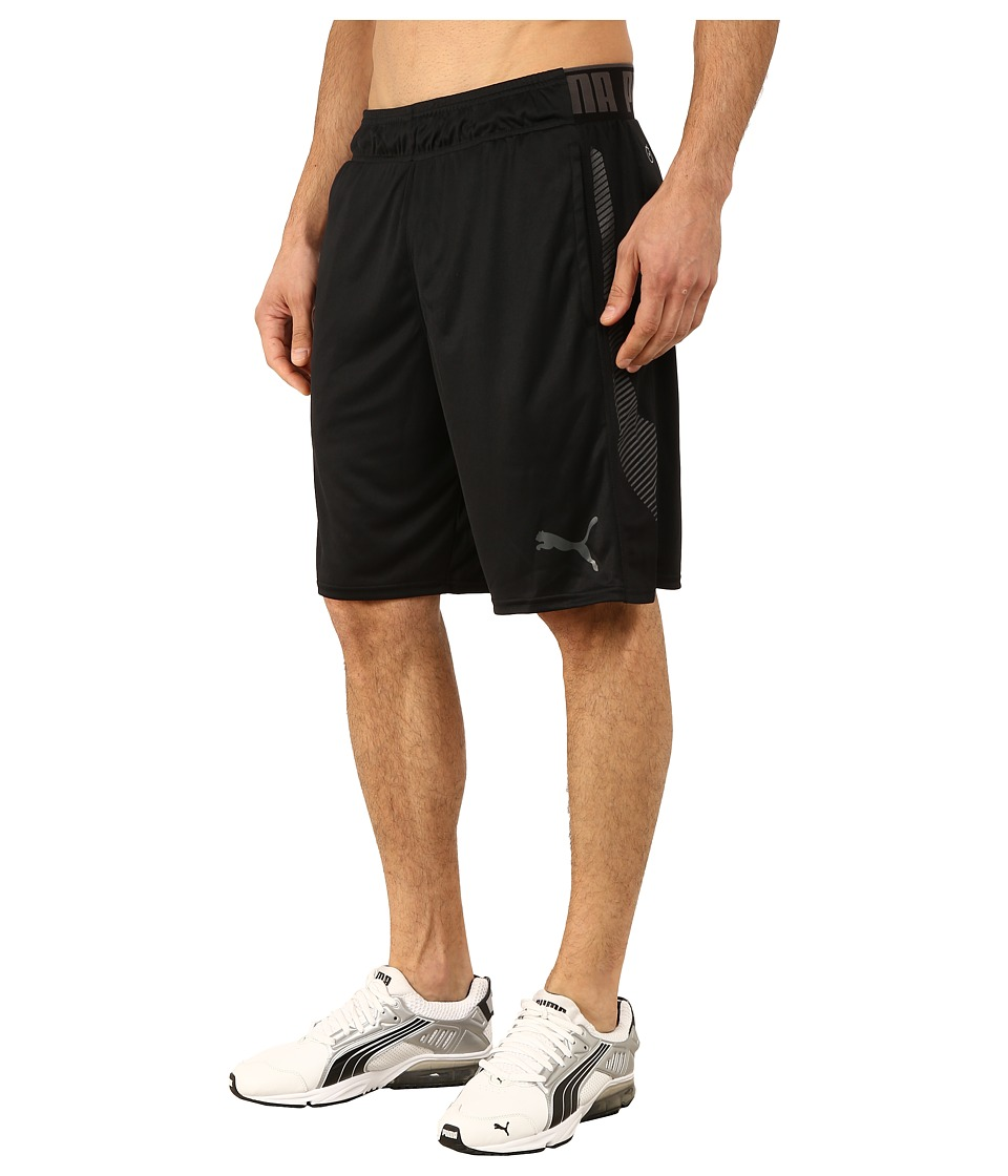 PUMA - Tilted Formstripe Shorts (Black/Black) Men's Shorts
