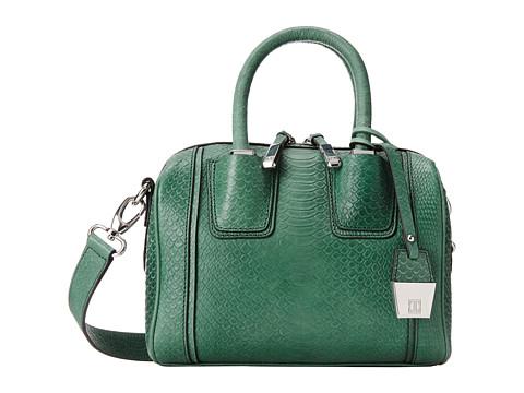 Ivanka Trump - Doral Mini Barrel Satchel (Turquoise Matte Python) Satchel Handbags