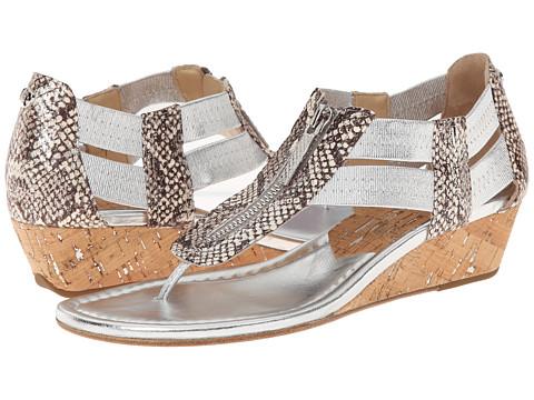 Donald J Pliner - Dori (Silver Metallic Snake Print) Women's Sandals