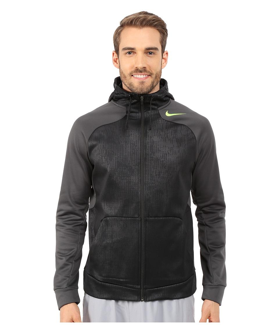 Nike - Hyperspeed Fleece Full-Zip Hoodie (Black/Anthracite/Anthracite/Volt) Men