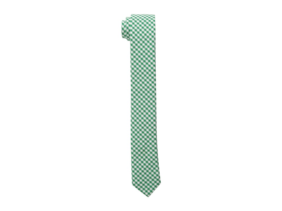 Appaman Kids - Skinny Tie (Green Gingham) Ties