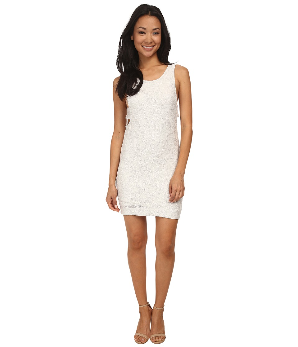 Chaser - Deep U Back Strappy Mini Dress (Salt) Women's Dress