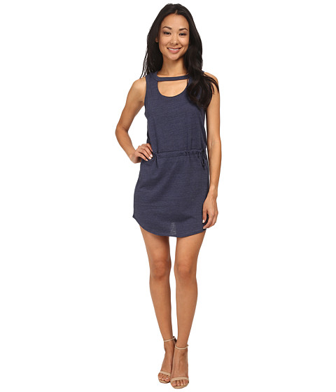 Chaser - Open Front Vent Sleeveless Dress Triblend (Scuba) Women's Dress