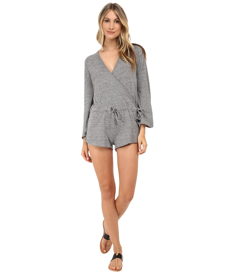 Chaser - Surplice Jumper Triblend Bell Sleeve (Streaky Grey) Women