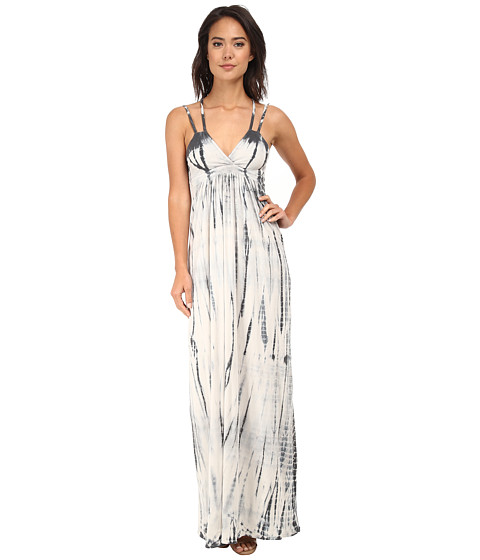 Chaser - Cross Back Maxi Dress (Sand Dollar Tie Dye) Women's Dress