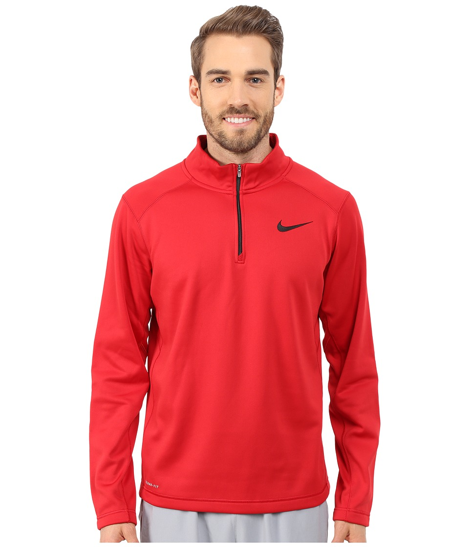 Nike - KO 1/4 Zip Top (Gym Red/Gym Red/Black) Men's Workout