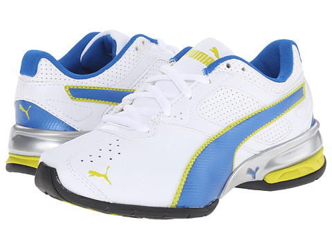 Puma Kids - Tazon 6 SL (Little Kid/Big Kid) (White/Princess Blue/Sulphur Spring) Boys Shoes