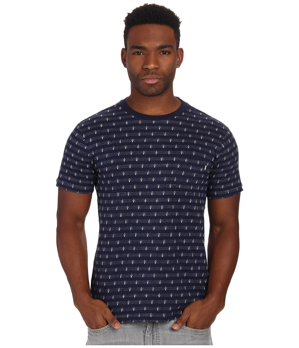 Obey - Royal Pocket Tee (Navy Multi) Men
