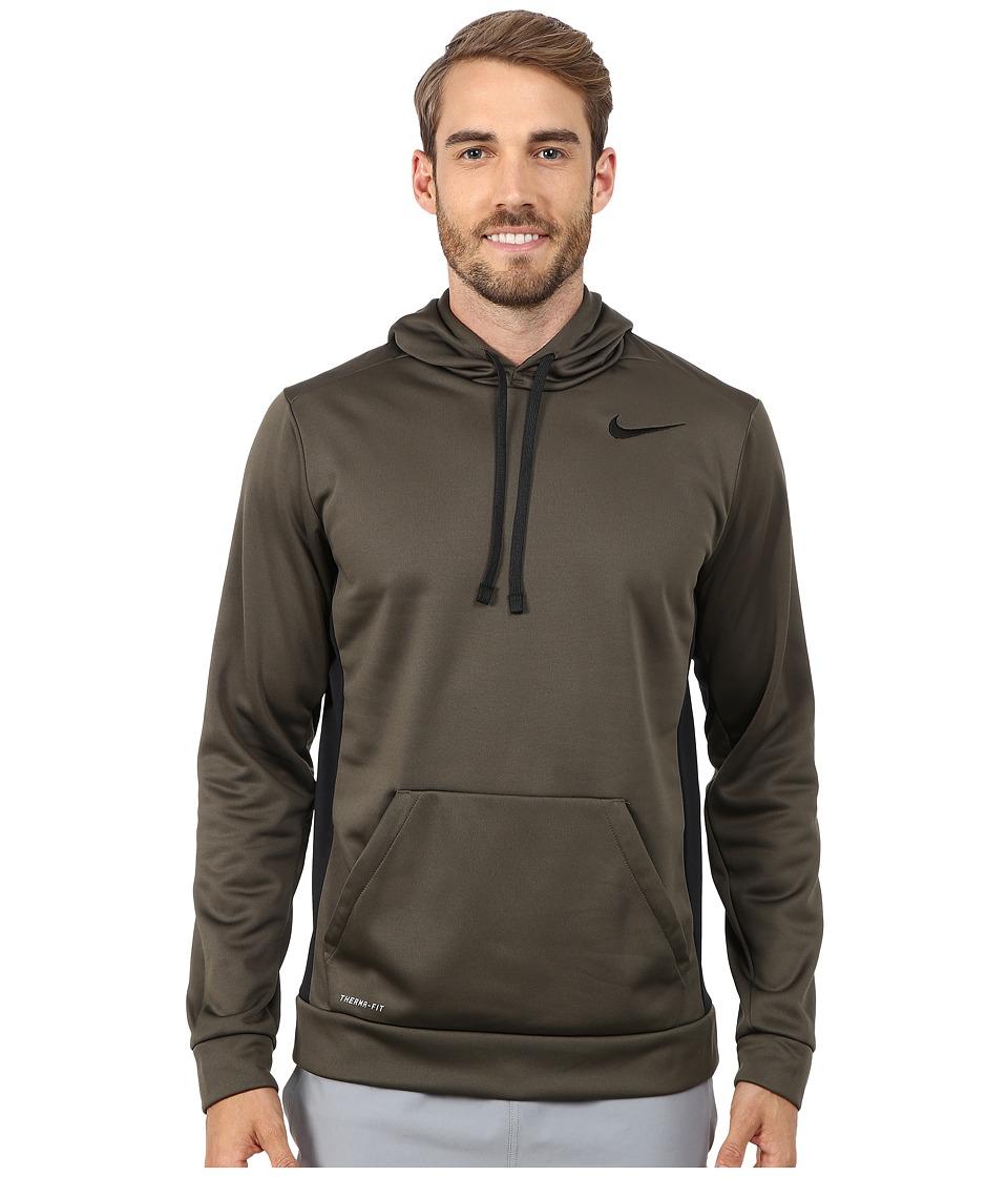 Nike - KO Hoodie 3.0 (Cargo Khaki/Black/Black/Black) Men's Sweatshirt