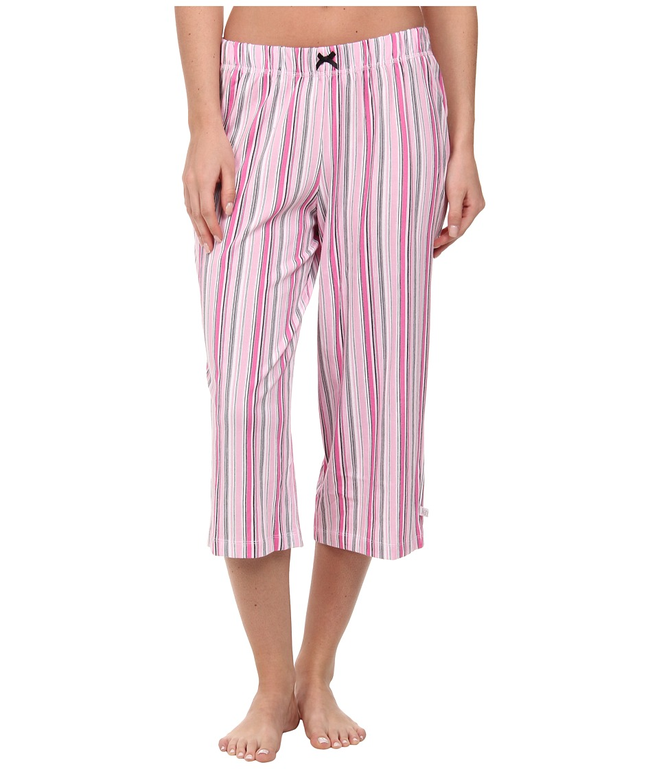 Karen Neuburger - Le Boulevard Stripe Crop Pants (Pink) Women
