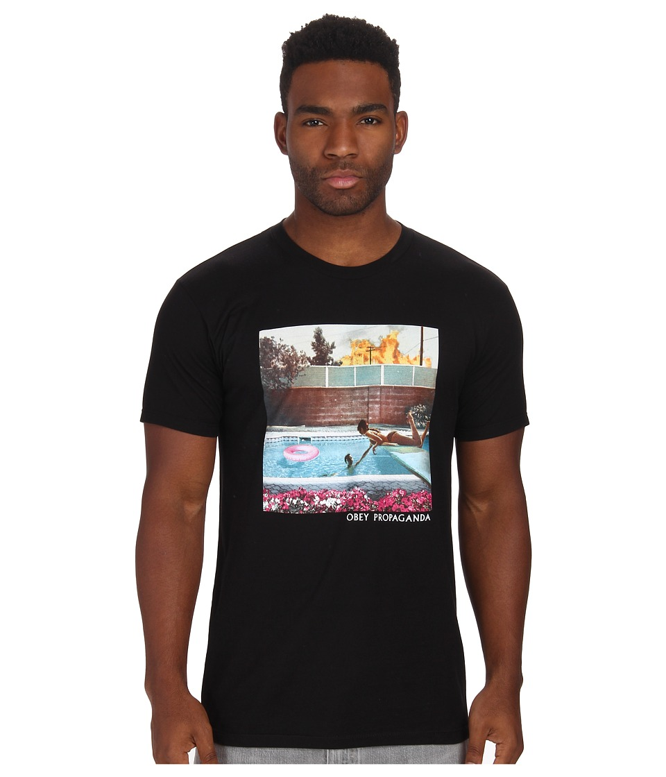 Obey - Holiday In California Tee (Black) Men's T Shirt