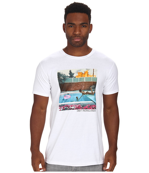 Obey - Holiday In California Tee (White) Men's T Shirt