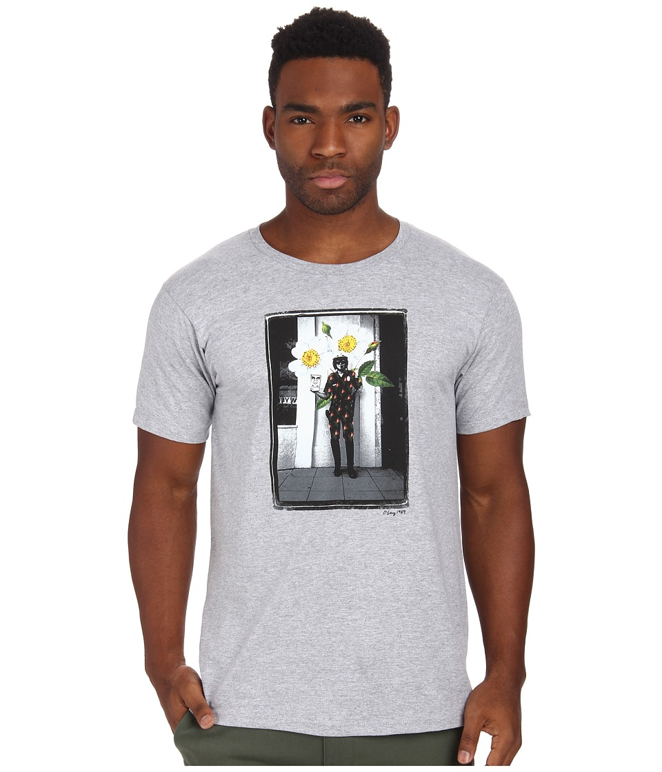 Obey - Flower Cop Tee (Heather Grey) Men's T Shirt