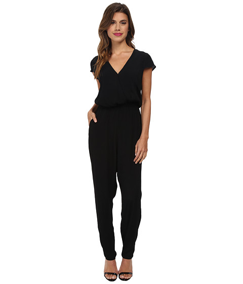 MINKPINK - Cross Front Jumpsuit (Black) Women's Jumpsuit & Rompers One Piece