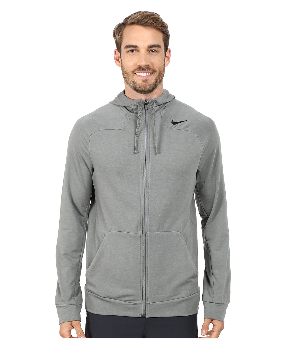 Nike - Dri-FIT Touch Fleece Full-Zip Hoodie (Tumbled Grey/Lunar Grey) Men's Sweatshirt