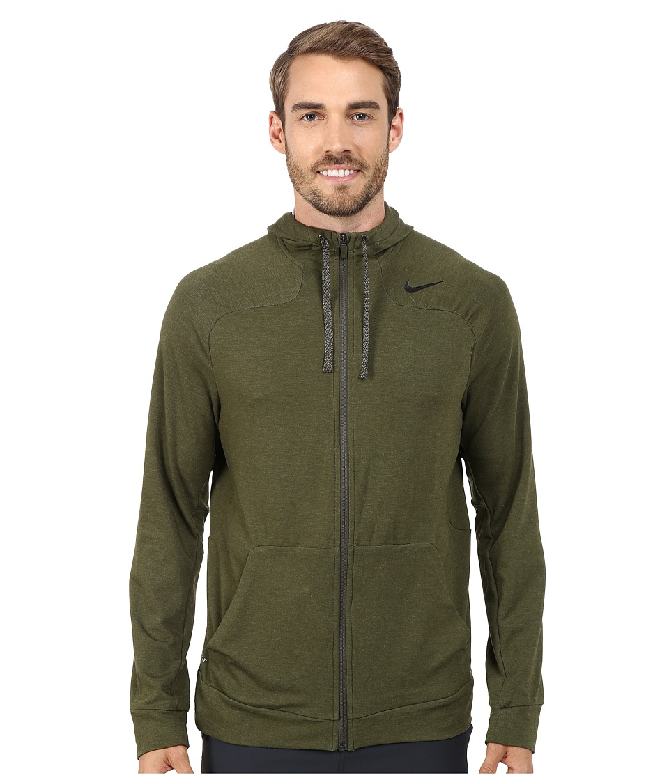 Nike - Dri-FIT Touch Fleece Full-Zip Hoodie (Cargo Khaki/Black) Men