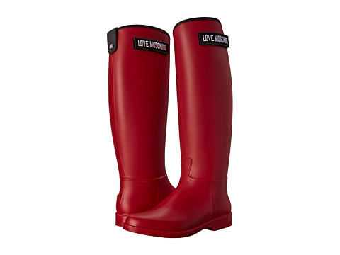 LOVE Moschino - Logo Rain Boot (Red) Women