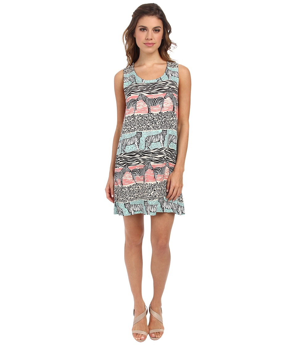 MINKPINK - Animal Stripe Shift Dress (Multi) Women's Dress