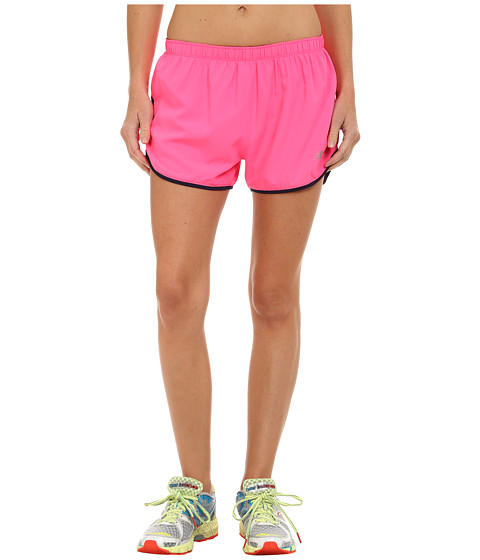 New Balance - Woven 2-in-1 Shorts (Amp Pink) Women