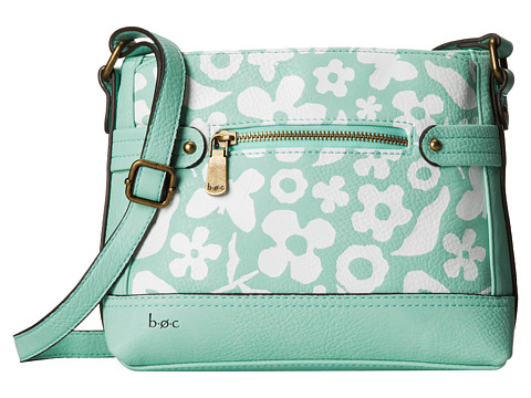 b.o.c. - Benning II East/West Crossbody (Mint Floral) Cross Body Handbags
