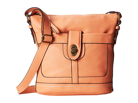 b.o.c. - Bucket Turnlock (Coral) Handbags