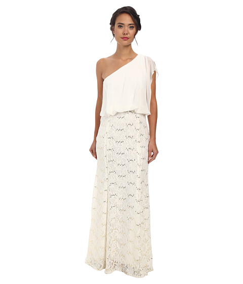 rsvp - Mabel One Shoulder Long Dress (Ivory) Women