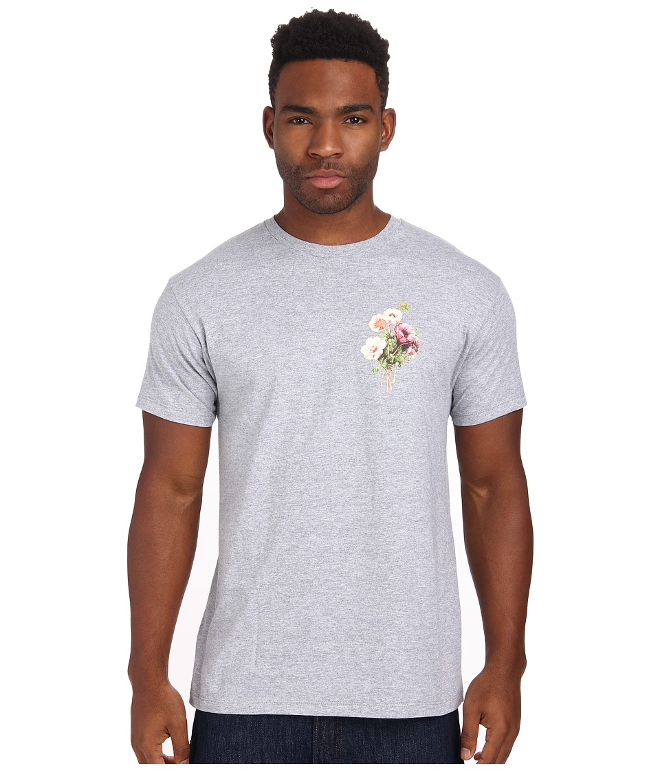 Obey - Confident Floral Tee (Heather Grey) Men