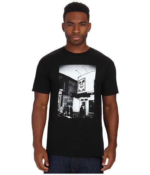 Obey - Icon Face Billboard Photo Tee (Black) Men's T Shirt